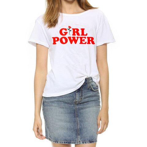 Image of Nothing Letter Rose Print Female Harajuku T-Shirts