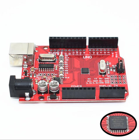 Image of One set UNO R3 CH340G+MEGA328P Chip 16Mhz UNO R3 for arduino uno r3
