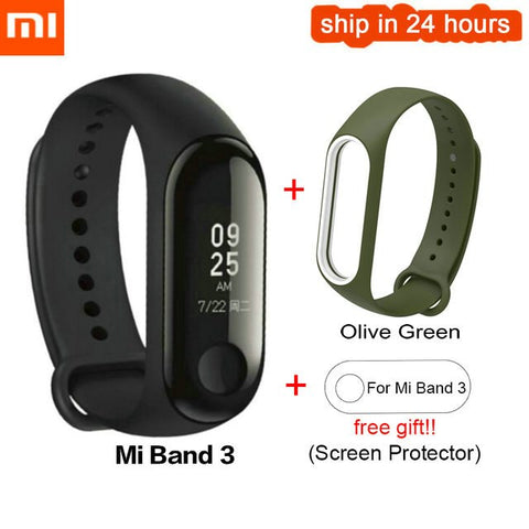 Image of Original Xiaomi mi Band 3 2 miband 3 Waterproof Smart Bracelet band Heart Rate Pulse Xiaomi Miband 3 OLED xiaomi mi 3 Wristband
