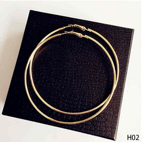 Image of Super Big Circles Hoop Earrings