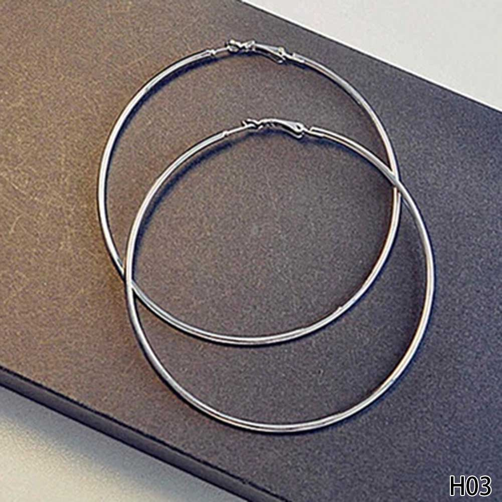 Super Big Circles Hoop Earrings