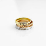 Stacking Ring Engraved Ring Personalized Ring For Women