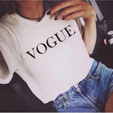 VOGUE Printed T-shirt Women Tops Tee Shirt Harajuku Sweater