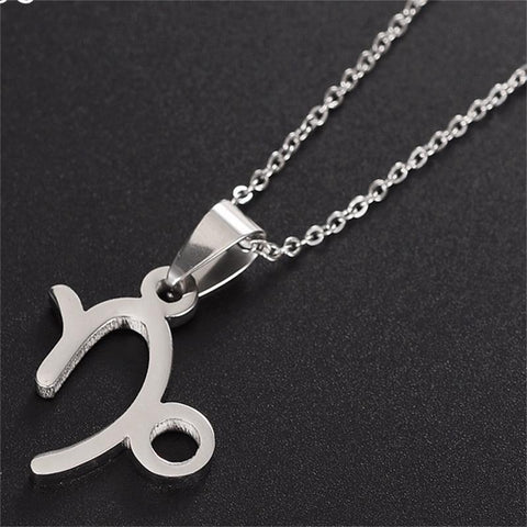 12 Zodiac Symbol Constellation Astrology Horoscope Pendant Necklace