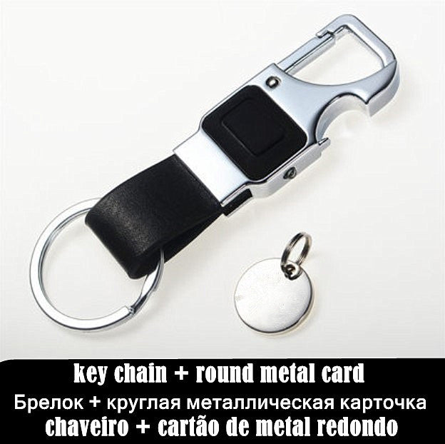 Custom Lettering Men Leather Key Chain