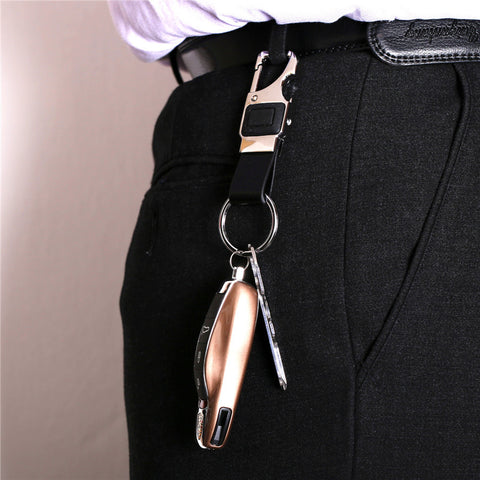 Image of Custom Lettering Men Leather Key Chain