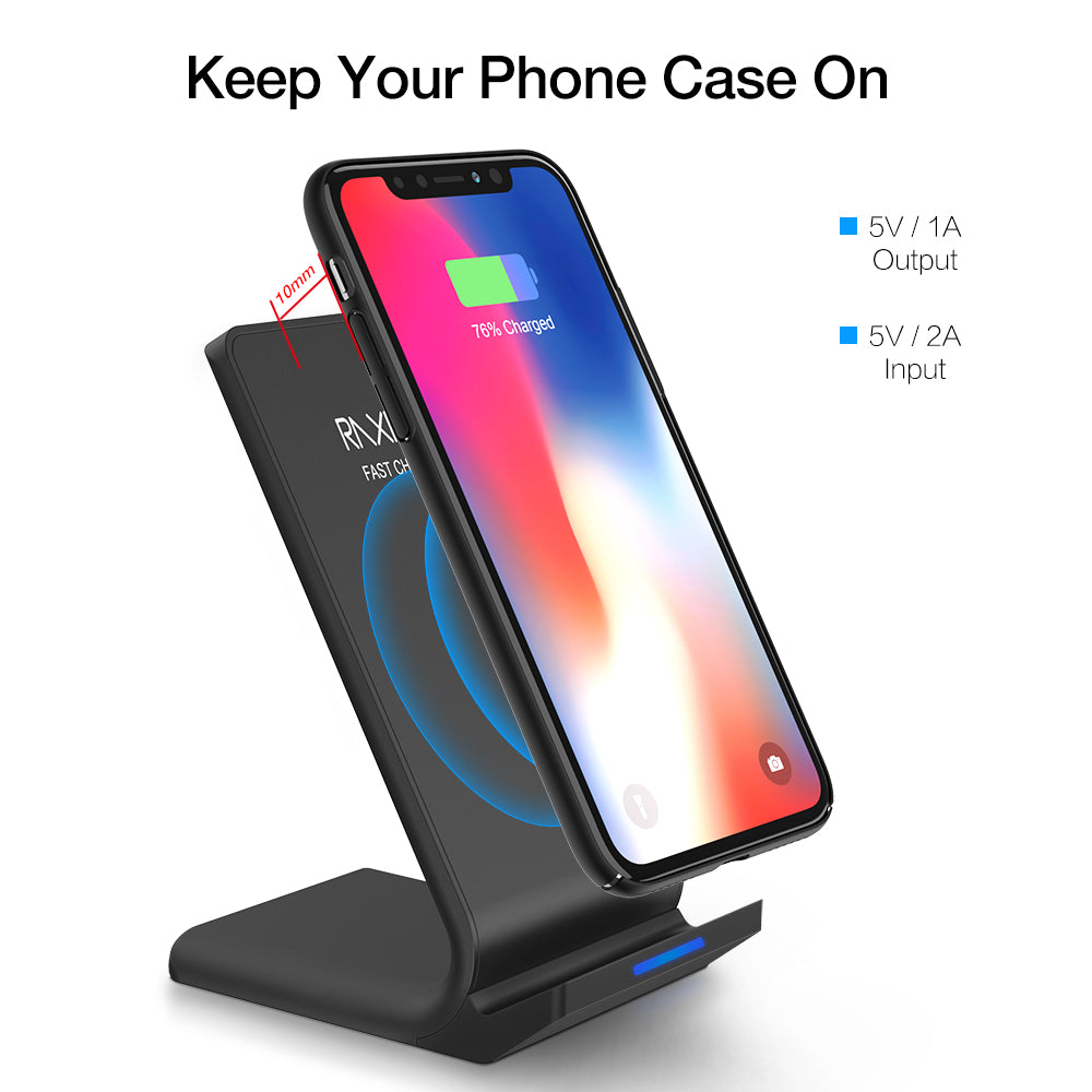 Qi Wireless Charger For iPhone X 8 Plus & Samsung S8 Plus S7 S6 edge Note 8