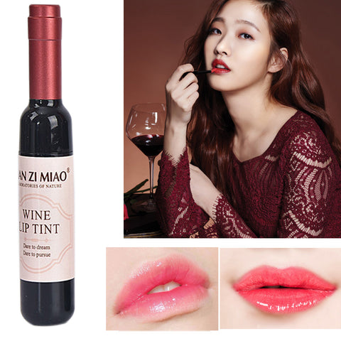 Image of 6 Colors Wine Lip Stain, Waterproof Lip Glosses, Lip Tint, Liquid Lipstick