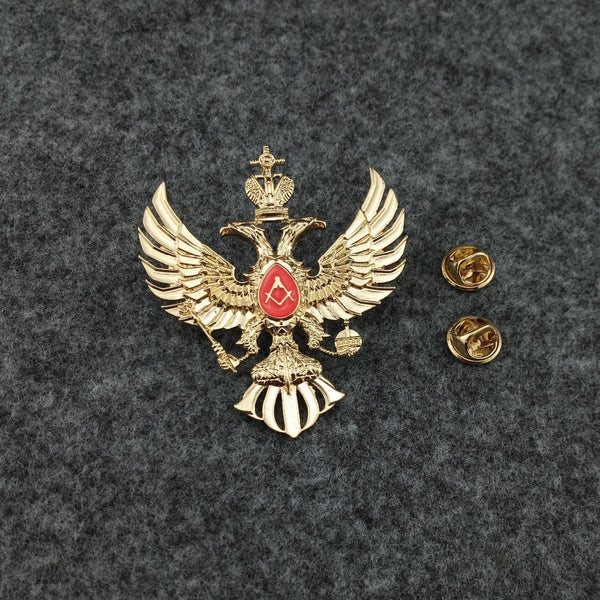 Russian Masonic Double Head Eagle Badge