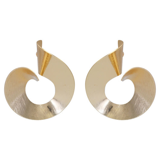 Personality Spiral Round Hoop Earrings