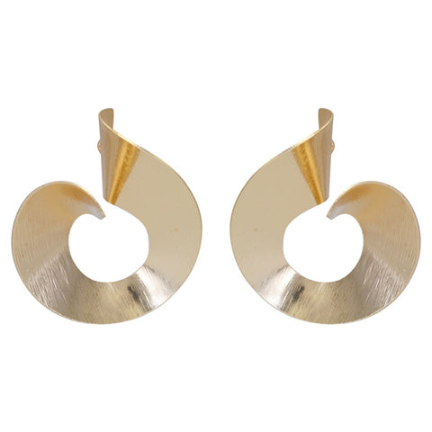 Image of Personality Spiral Round Hoop Earrings