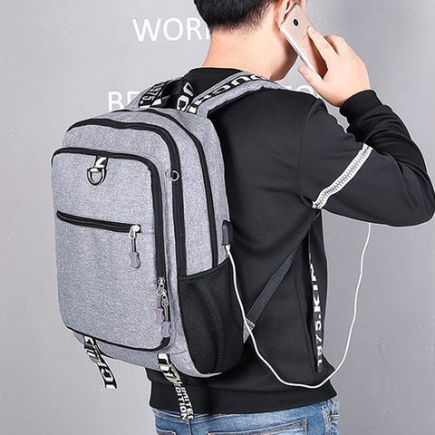 Image of Youth Fashion Oxford Casual Laptop Backpack