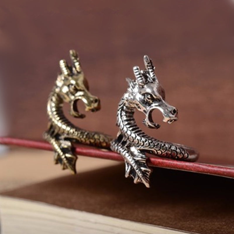 Charms Punk Exaggerated Vintage Dragon Ring