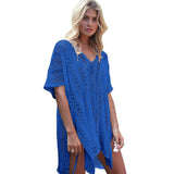 Sexy Crochet beach V Neck Cover Up