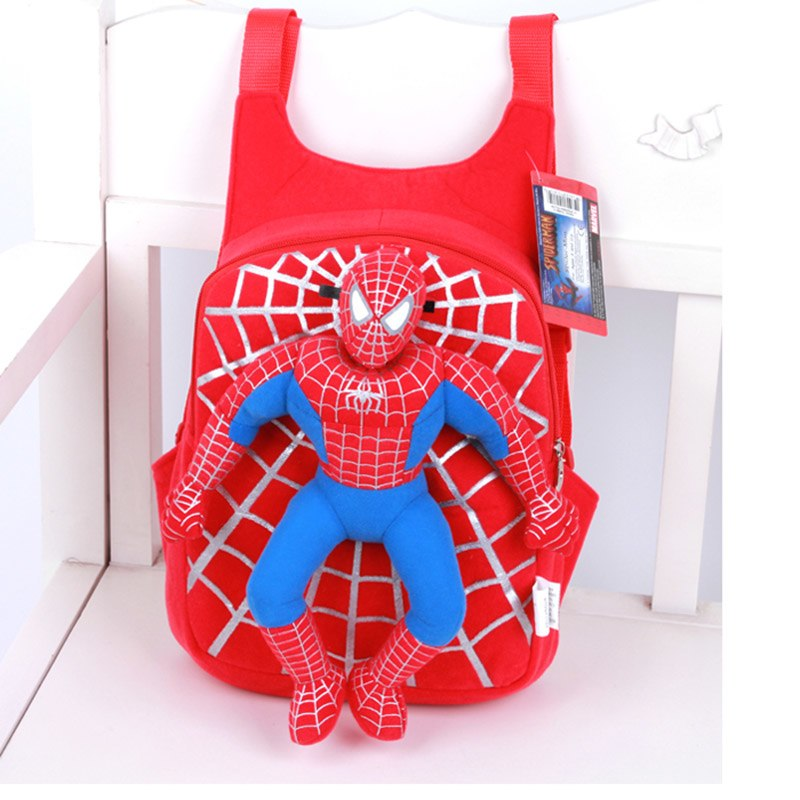 Spider Man Boys Plush Backpacks