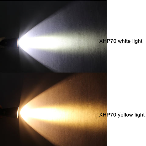 Image of Super Brightness Cree XHP70 LED 4000 Lumens Tactical Flashlight