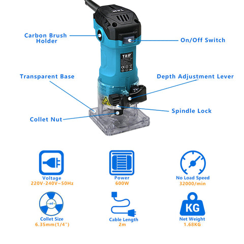 Electric Laminate Edge Trimmer