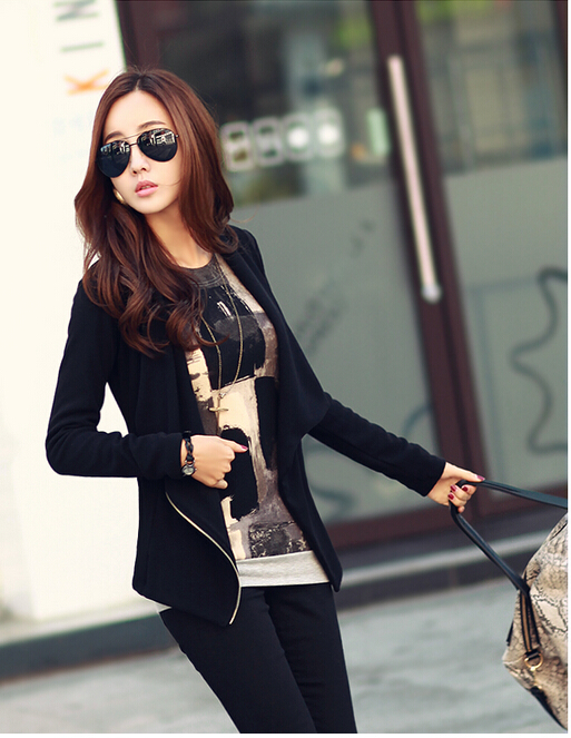 Women Long Sleeve Korean Style Jackets