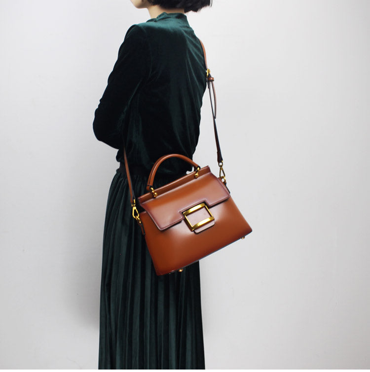 European Station High-end Atmosphere Handmade Leather Handbags