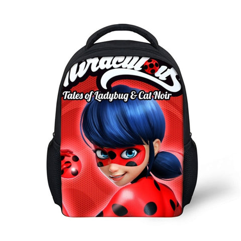 Miraculous Ladybug Printed Children School Bags for Girls