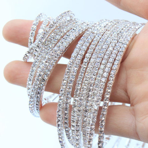 Image of Big Rhinestone Circle Earrings
