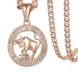 Taurus Pendant Necklace For Women