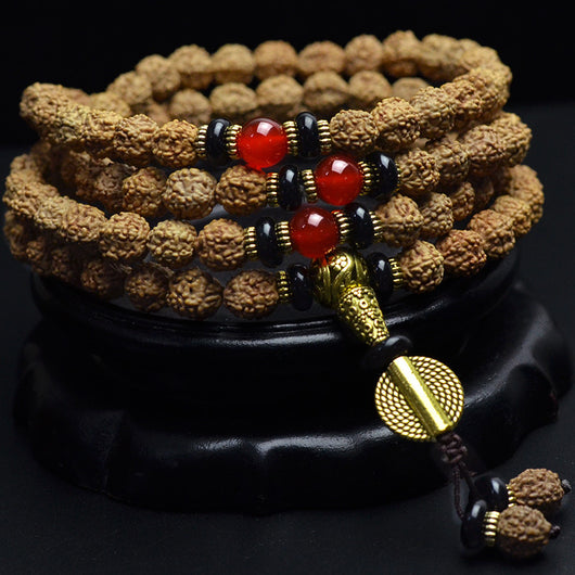 Authentic Kingkong Bodhi Seeds Meditation Prayer Mala Nepal Rudraksha