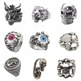 Tiger Stainless Steel Anime Skull Hip Hop Rings