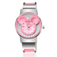 Women Mickey Mouse Stainless Steel Watch