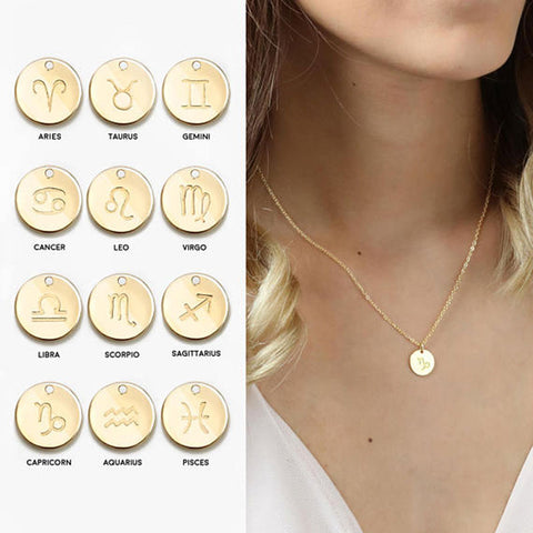 Trendy Zodiac Necklace Gift