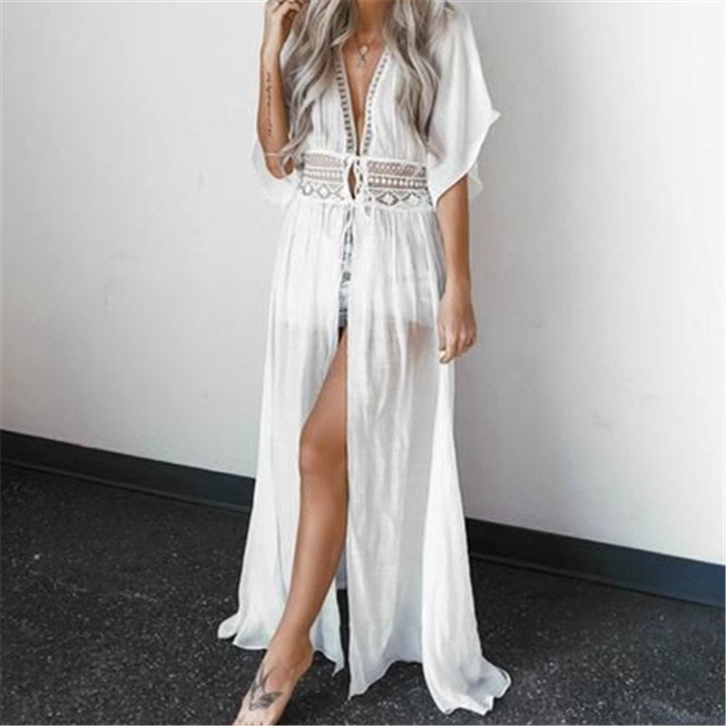Long Kaftan Beach Cover Up