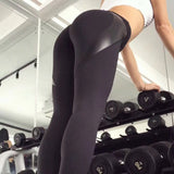 Heart Shape Booty PU Leather Yoga Leggings