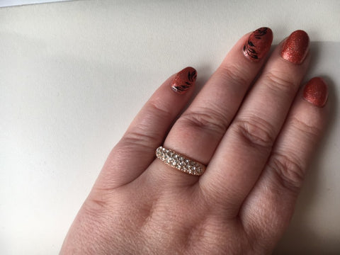 Image of Classic Rhinestones Studded Finger Rings