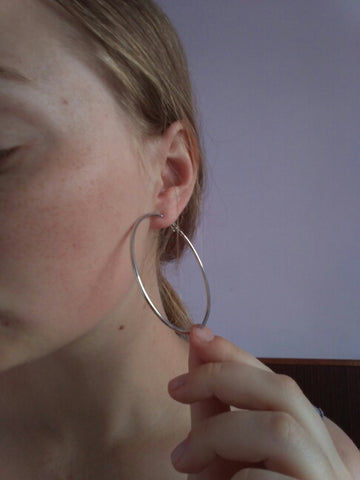 Image of Stainless Steel Big Hoop Earrings