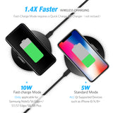 Wireless Charger for iPhone X 8 Plus 10W  & Samsung Galaxy S8 S9 S7 Edge