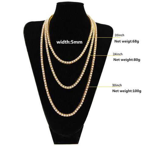 Image of Hip Hop Bling Bling Iced Out Tennis Chain Necklace