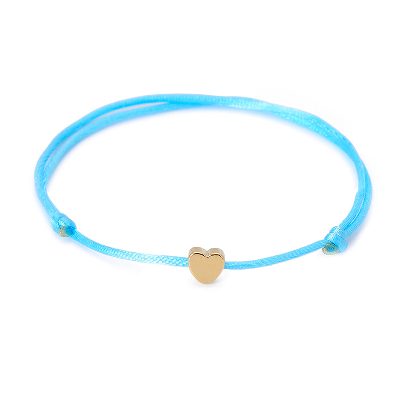 Handmade Heart Rope Adjustable String Lucky Bracelet