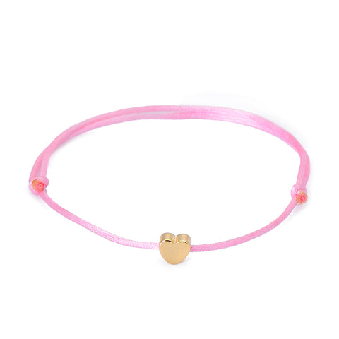 Image of Handmade Heart Rope Adjustable String Lucky Bracelet