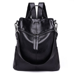 Vintage PU Leather School Backpacks