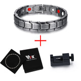 Men's Health Bracelets & Bangles Magnetic H Power Stainless Steel Charm Bracelet