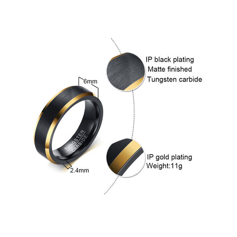 Image of Tungsten Carbide Wedding Ring