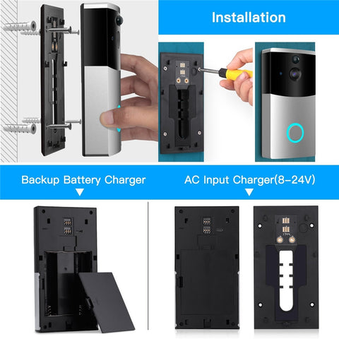 Image of WIFI Video Doorbell Camera Intercom System