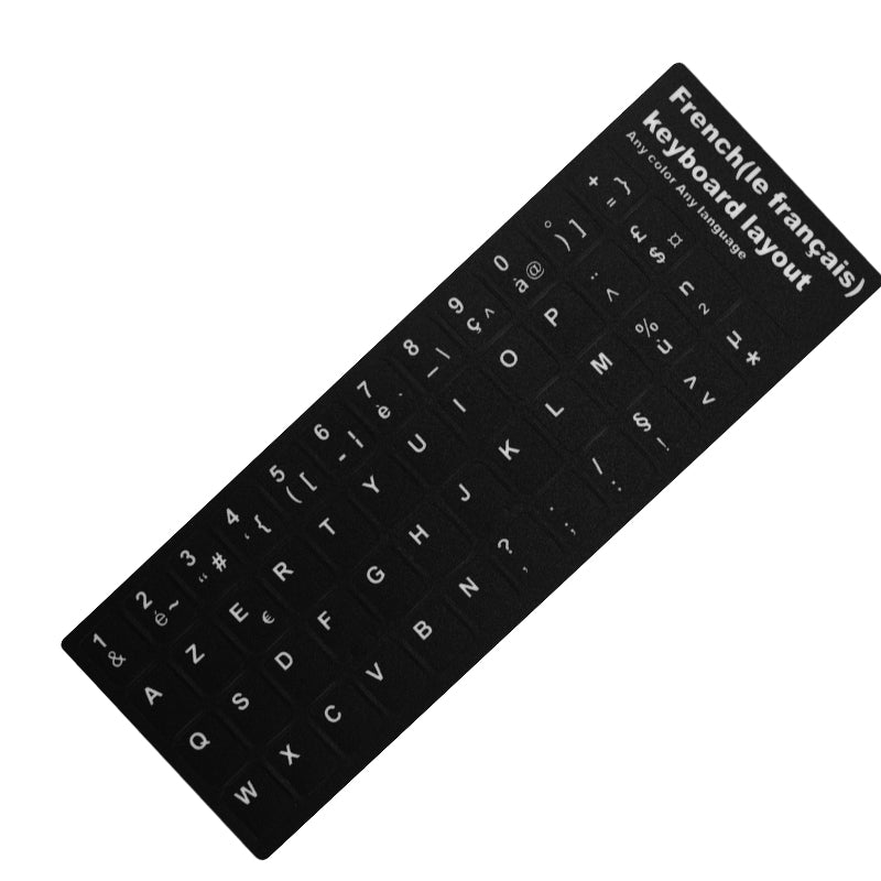 Waterproof Russian Keyboard Stickers English French