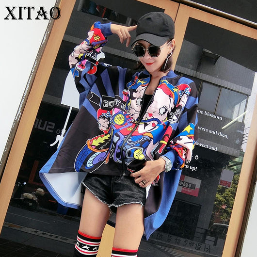 European Style Autumn Irregular Collar Jackets