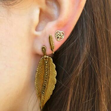 Bohemia Punk Style Ancient Palm Hope Earrings