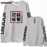 Women Bangtan Boys Album Fans Casual Chinese Letters Printed Tops