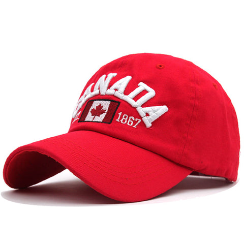 Image of Men & Women Baseball Snapback Caps Embroidery Canada Bone Hat
