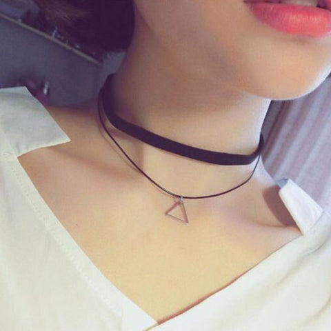 Image of 15 Pcs Lace Leather Velvet Strip Choker Necklace