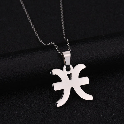 12 Constellation Stainless Steel Necklace