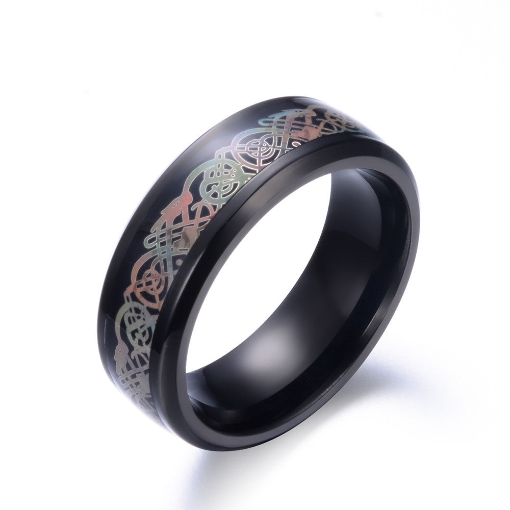 316L Stainless Steel Dragon Wedding Band